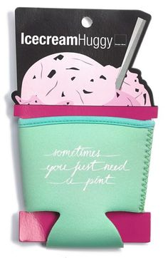 Design Ideas 'Sometimes' Ice Cream Pint Koozie from Nordstrom, Perfect stocking stuffer! Things To Buy, Girly Things, Stuff To Buy, Cute Gifts, Great Gifts, E Design, Design Ideas, Take My Money, Just Dream