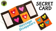 MESSAGE DISAPPEARING SECRET CARD - DIY Tutorial by Paper Folds