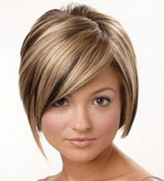 A lovely layered bob with blonde and caramel coloured highlights