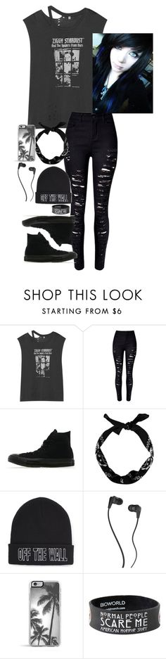 """""""black is back"""" by katiecutie31 on Polyvore featuring R13, Converse, Vans, Skullcandy, Zero Gravity, women's clothing, women, female, woman and misses"""