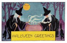 Whitney Halloween Witches Stir Cauldron