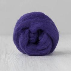 DHG Merino Wool Tops Extrafine - Florence Purple | Shop Wool Online #woolroving #needlefeltingwool #feltingwool #spinningsupplies Nuno Felting, Needle Felting, Drop Spindle, Powder Pink, Dark Purple, Wool Felt, Merino Wool, Weaving, Vibrant
