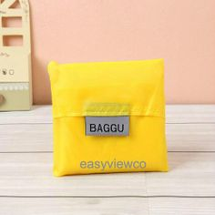 Fashion Womens Yellow Foldable Eco Storage Reusable Shopping Hand Bag Tote B81