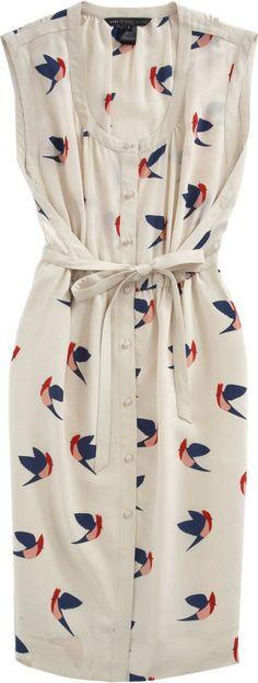 Marc by Marc Jacobs Bird Print Dress