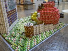 Great display for the Food Bank-- Birds Food Bank, Visual Display, Childrens Party, Angry Birds, Westies, Strawberry, Advertising, Decor Ideas, Birthday
