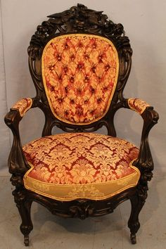Lot: Heavily carved rosewood rococo parlor chair, Lot Number: 0037, Starting Bid: $500, Auctioneer: Stevens Auction Company, Auction: New Year's Extravaganza Antique Auction, Date: January 7th, 2017 PST