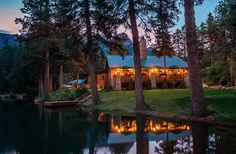 Wow - Log Cabins at the famed Broadmoor in Colorado Springs.  Definitely in our 'backyard' but not in the budget!.... Some day