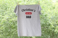 Script Personalized Dad Shirt - Established in...