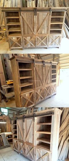 Very Beautiful Wooden Pallet Kitchen Hutch Ranck Project