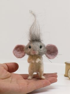 Needle Felted Mouse Troll Mouse by Loosemoosey