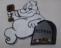 Ripped - The Wine Drinking Ghost Sign/Plaque by Winefi on Etsy