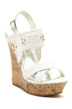 Elegant Footwear Nanti Cutout Wedge