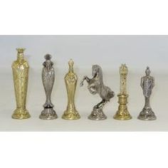 Renaissance Style Metal Chess Pieces With 5.5