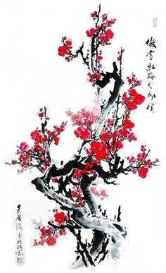 Ideas japan art design painting for 2019 Japanese Artwork, Japanese Tattoo Art, Japanese Painting, Tatto Floral, Chinese Painting Flowers, Marshmello Wallpapers, Cherry Blossom Painting, Cherry Blossoms, Samurai Artwork