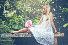 White lace maxi Tiered Dress with a complimantry by Bubale1