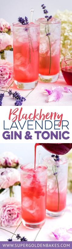 This blackberry lavender gin and tonic may well be the prettiest and most refreshing summer drink. Perfect for sipping in the garden on warm evenings...
