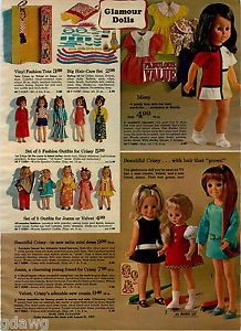 1970-ADVERTISEMENT-Doll-Betty-Big-Girl-Sally-Life-Size-Crissy-Missy-Velvet-Joann