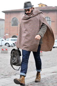 I did the exact same thing on my trip to San Francisco in July. It was so cold that I used the blanket I took for the plane as a poncho. It worked, and I guess I looked cool! ;) -- @jo_elg
