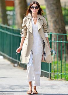 Here she comes: Alexa Chung steps out in New York City on Friday