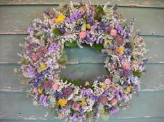 I love the dried flower wreaths this shop sells.