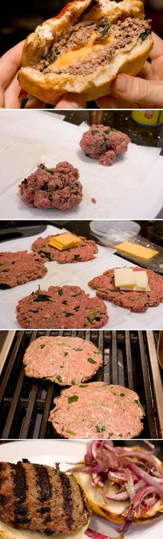 A Jucy Lucy is a cheeseburger that has the cheese inside the beef, rather than on top. They looked delicious!