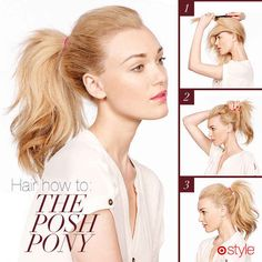 Use a comb to fluff up the middle and back layers before pulling your hair into the ponytail.