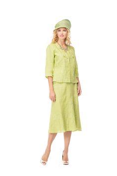 2c9b9856dcc Stunning 2 piece linen jacket and skirt by Moshita Night Studio Linen.  Great church suit