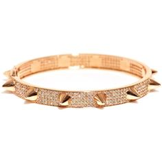 Elise Dray Diamond and pink gold Muse bracelet ($10,934) ❤ liked on Polyvore