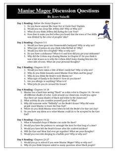 survival essay for maniac magee and Maniac magee is a moderately complex novel, in form and in content in form, it offers both social realism and an adventure tale about the life and times of a contemporary legend in content, it.