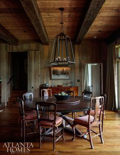 House Tour:  Rustic Lake Wateree Hunting Lodge