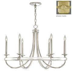 Grosvenor Square 6 Light Candle Chandelier