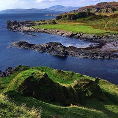Rugged shore of the Isle of Kerrera near Oban, Scotland.