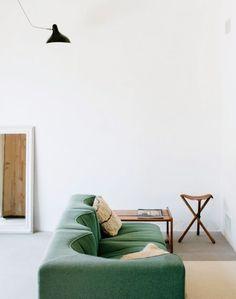 modern green sofa. / sfgirlbybay