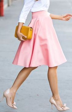 Need One Dance Fit & Flare Skirt - Pink