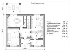 План первого этажа двухэтажного дома с двумя эркерами House Layouts, Floor Plans, Projects, Log Projects, Blue Prints, House Floor Plans, Floor Plan Drawing