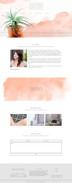 Watercolor modern WordPress design web design layout Station Seven. Click t - Watercolor modern WordPress design web design layout Station Seven. Click t - Web Design Trends, Ui Design, Layout Design, Web Layout, Form Design, Graphic Design, Design Ideas, Website Layout, Website Themes
