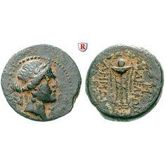 Seleukis und Pieria, Antiocheia am Orontes, Bronze Jahr 165 = 148/147 v.Chr., f.ss/ss: Bronze 18 mm Jahr 165 = 148/147 v.Chr. Kopf… #coins