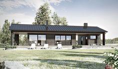 Vapaa-ajan asunto WM 92 Factory Architecture, House Architecture, Garage Studio, Long House, Modern Ranch, Prefab, Home Fashion, Building A House, Beach House