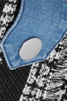 Karl Lagerfeld - Denim And Bouclé-tweed Jacket - Mid denim - IT40
