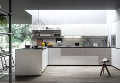 Forma Mentis Angel Skin - Designer Fitted kitchens by Valcucine ✓ Comprehensive product & design information ✓ Catalogs ➜ Get inspired now Kitchen Furniture, Kitchen Interior, Kitchen Dining, Kitchen Cabinets, Basic Kitchen, Stylish Kitchen, Outdoor Kitchen Design, Modern Kitchen Design, Kitchen Designs