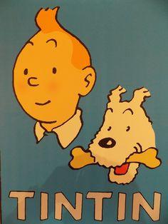 Affiche Tintin et milou 1955