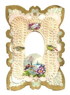Antique Images: Free Valentine Graphic: Antique Victorian Valentine Scrap Card with Birds and Lace Victorian Valentines, Vintage Valentines, Valentine Ideas, Vintage Cards, Vintage Images, Card Tags, Gift Tags, Valentine Decorations, Journal Cards