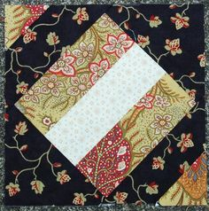 """At Last a Free Man    Block from the book """"The Civil War Love Letter Quilt"""