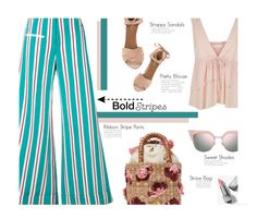 """Bold Summer Stripes"" by diane-888 ❤ liked on Polyvore featuring Rosie Assoulin, See by Chloé, Aranáz, Aquazzura, Fendi, Burberry, summerstyle and BoldStripes"