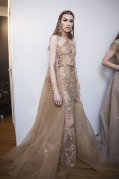 Elie Saab at Couture Spring 2017 - Backstage Runway Photos