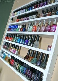 Plane Pretty | Travel and Lifestyle Blog | Modest Fashion: Nail Polish Storage - DIY Shelf