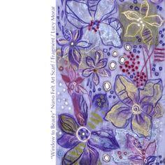 Greek Blue, Nuno Felting, Felt Art, Fabric Art, Window, Scarves, Gallery, Beauty, Model