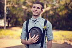 bow tie and suspenders  {Style Me Pretty}