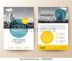 03fdd8c5ec671f poster flyer pamphlet brochure cover design layout with circle shape  graphic elements and space for photo background, blue and yellow color  scheme, ...