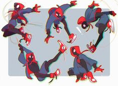"""daianpan: """"some quick rough sketches of miles from spiderverse! its such a fun movie! Spiderman Poses, Spiderman Kunst, Character Drawing, Comic Character, Art Reference Poses, Drawing Reference, Poses Dynamiques, Miles Morales Spiderman, Fandoms"""